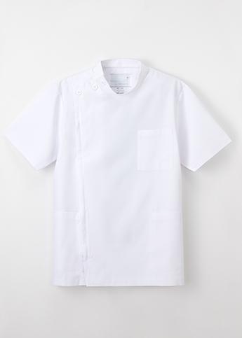 【ナガイレーベン】KES5167 男子横掛半袖 ホワイト・ブルー ・ミストグリーン・ネイビー(織物タイプ)【シルエット:ゆとり】