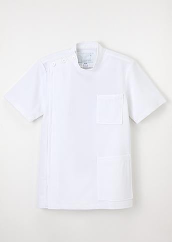 【ナガイレーベン】US82 男子横掛半袖 ホワイト (ニットタイプ)【シルエット:きつめ】