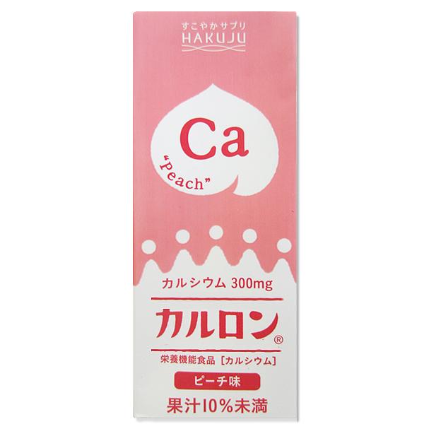 【L型発酵乳酸カルシウム】カルロン ピーチ味 200ml×24本