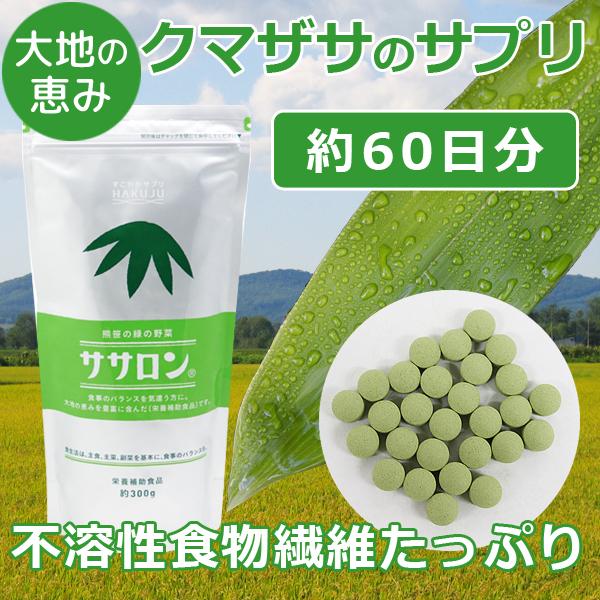 ※通常サイズ※ クマザサ由来の不溶性食物繊維【ササロン】約300g入り(約2ヶ月分)