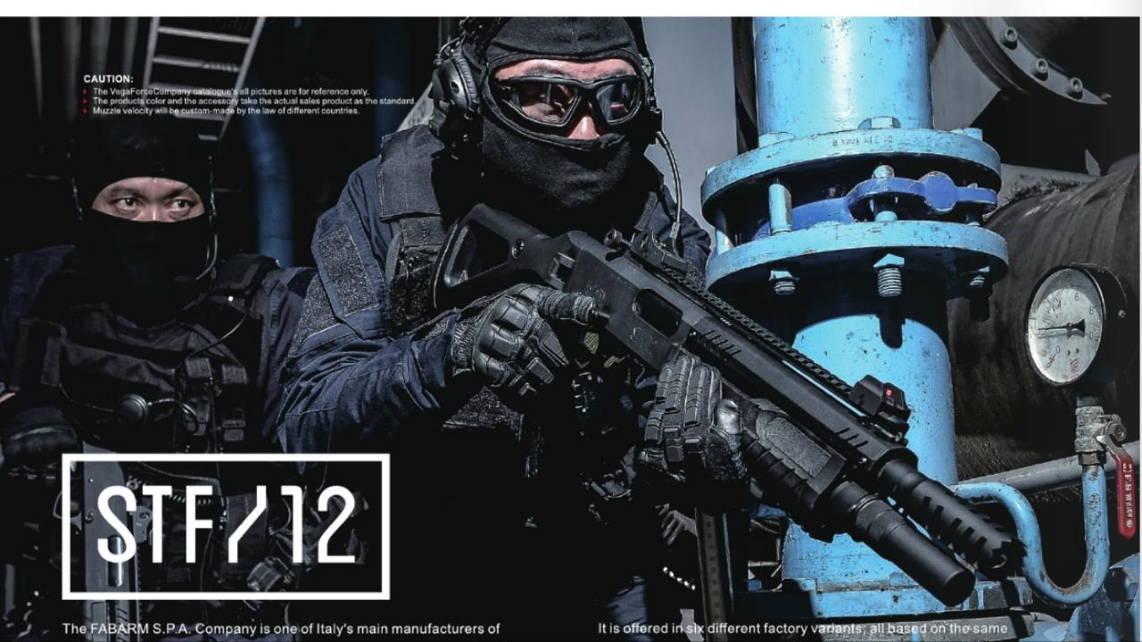 【先行予約】VFC Fabarm STF/12 ガスショットガン (JPver./Fabarm Licensed) BK