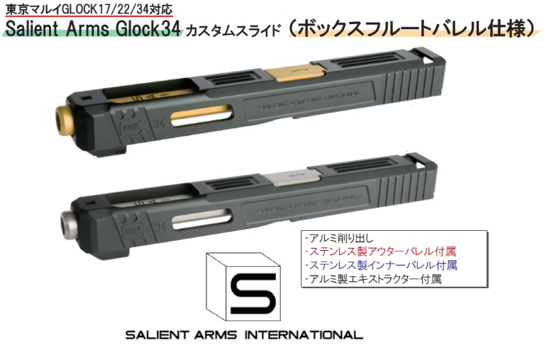 Gunsmodify マルイG17用(KKM)SAI G34 アルミスライドセット