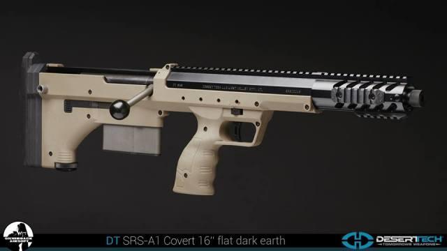 Silverback airsoft Desert Tech SRS-A1 Covert 16インチ