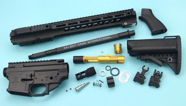 Guns Modify SAI GRY SBR GBB コンバージョンキット Black (東京マルイM4 MWS対応/SAI Licensed)