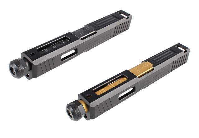 Guns Modify Glock19 SAI Tier Oneスタイルアルミスライド/タクティカルバレルセット (14mm逆ネジ/東京マルイ対応)