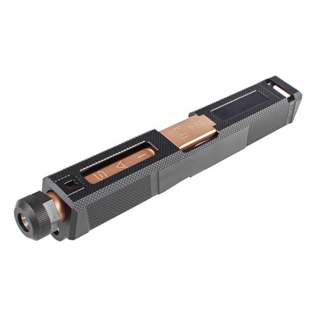 Guns Modify Glock19 SAI Tier One Utilityスタイルアルミスライド/タクティカルバレルセット (Rose Goldステンレスバレル 14mm逆ネジ/東京マルイ対応)