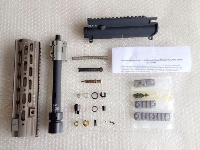 CAT製 KSC KWA GBB M4用 HK416 10.5 アッパーレシーバーキット DX