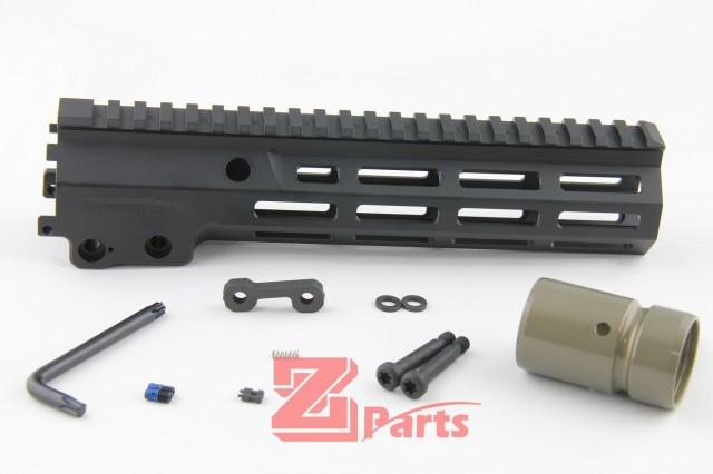 【特価】Z-parts マルイMWS用 Geisseleタイプ Mk16 SMR ハンドガード 9.3インチ BK