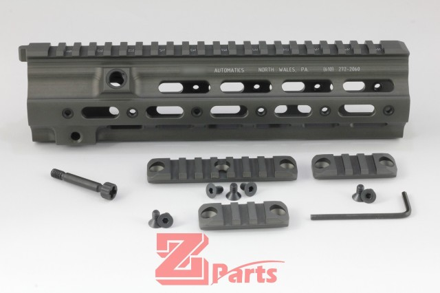 Z-parts HK416 geissele タイプ SMRレール 10.5''-Midnight Green