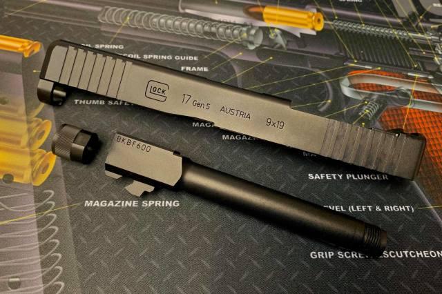 Bomber airsoft Umarex/VFC G17 gen.5用 MOSスライドセット (14mm逆)