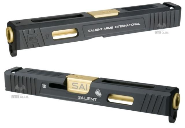 GunsModify マルイG17用 SAI刻印バレル仕様 スライドセット -BK