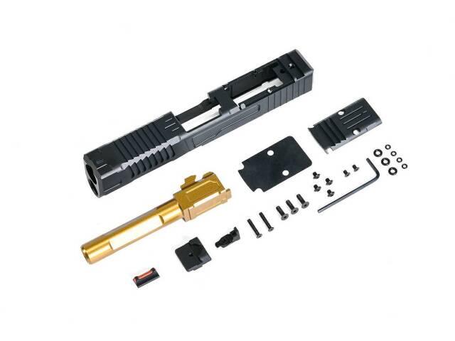 【新製品予約】X-Craft FI G19 MK1 CNCスライド/アウターバレルセット (VFC/Umarex G19シリーズ用)