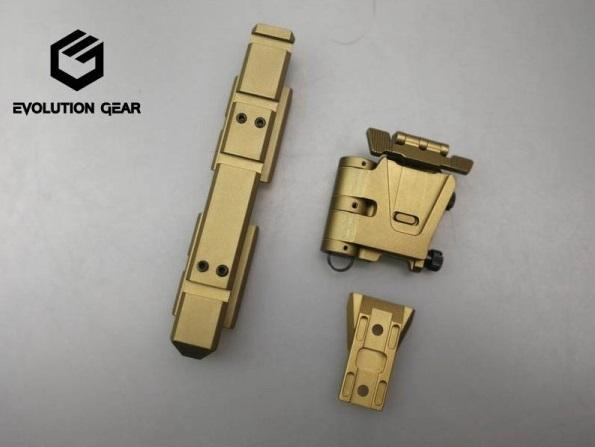 【新製品予約】Evolution gear Wilcoxタイプ 5/8ライザーレール&フリップサイドマウントセット