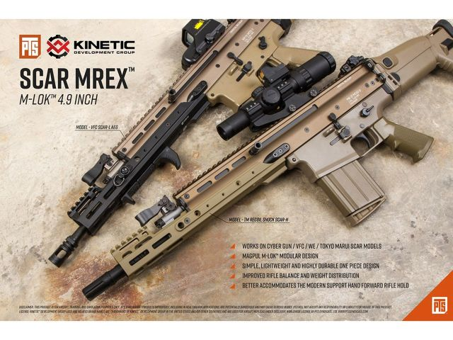 PTS Kinetic SCAR MREX M-Lok 4.9in レイルハンドガード