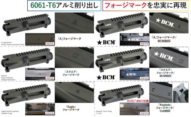 Angrygun マルイM4MWS用6061アルミアッパーレシーバー