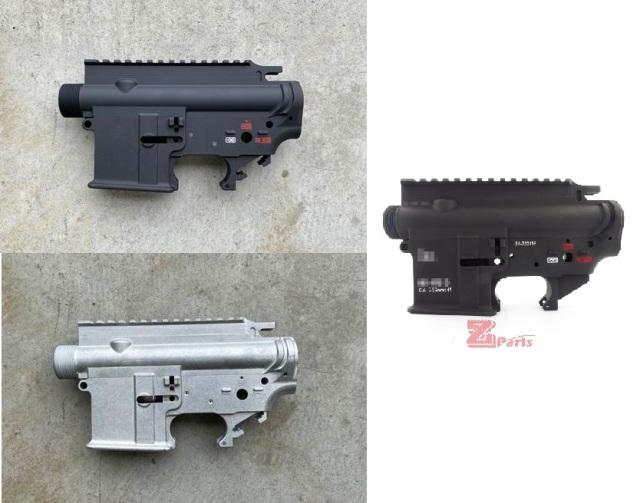 Z-parts PTW HK416タイプ レシーバーキット(HK416D、アルマイト無刻印、無刻印)