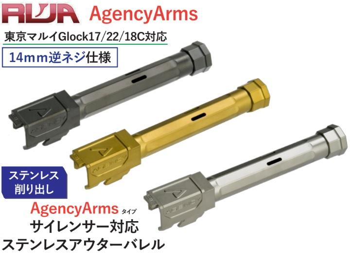 RWA マルイG17用(14mm逆) Agency Arms ネジ付アウターバレル