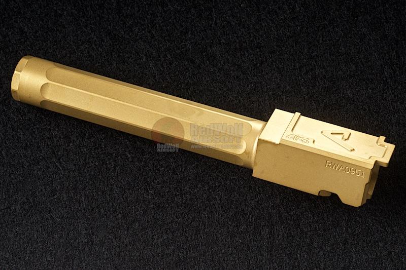 RWA/Gunsmodify マルイ G17用 Agency Arms TINコートステンレスバレル