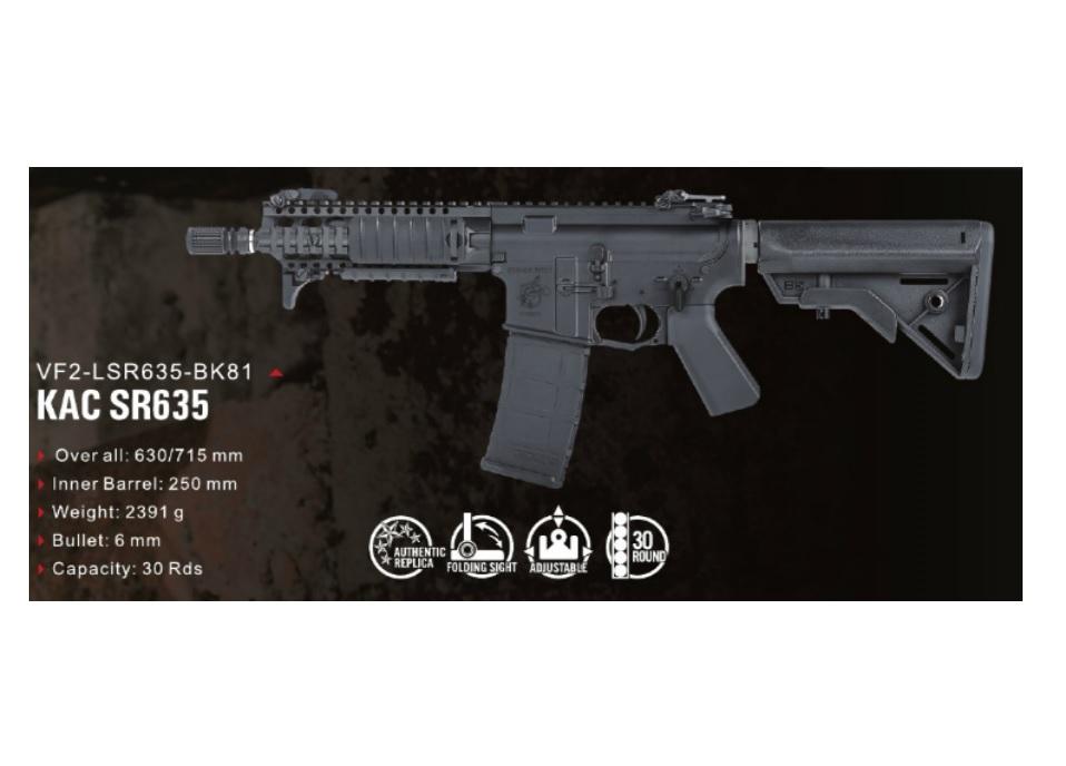 【先行予約】VFC KAC SR635 GBBR (JPver./Knight's Licensed)