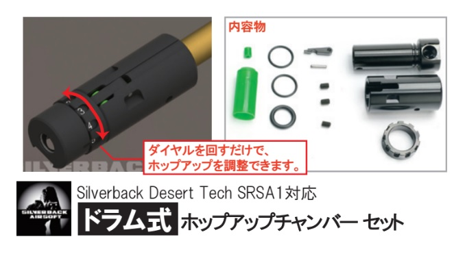Silverback airsoft HTI/SRS-A1 ドラム式ホップアップユニット