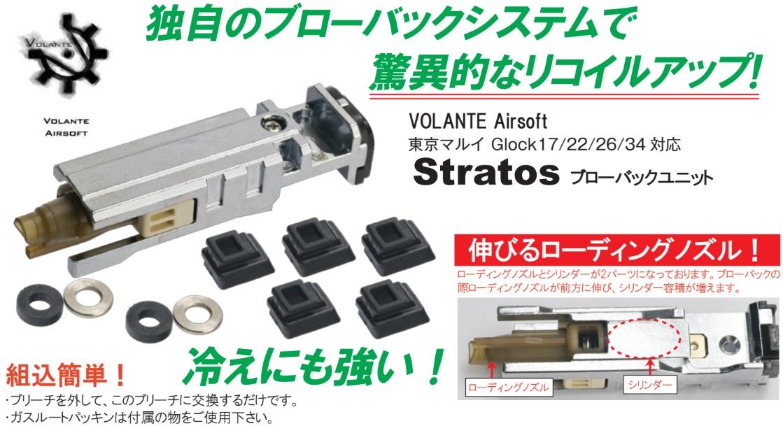 Volante Airsoft マルイ Glock17用 Stratos ブローバックユニット