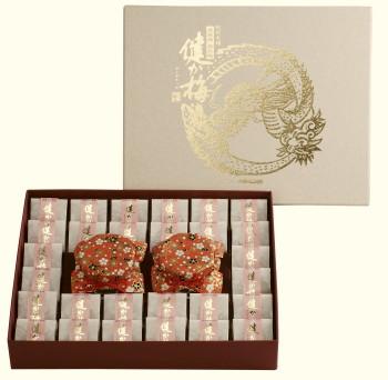 【紀州産南高梅】健か梅 高級和紙包み28包 特選しそ漬梅と詰合せ【送料無料】