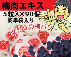飲み易さ◎便利なお出かけ用 完熟梅肉エキス(粒)「サラサラ」 5粒×90袋・簡単袋入