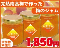 【お得用】お日さま梅ジャム 紀州南高梅の完熟梅ジャム 145g瓶入 × 3個(紙袋入)