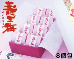 【紀州特選南高梅】寿ぎ梅(ことほぎうめ) 特大はちみつ梅・高級和紙包み8包 化粧箱入