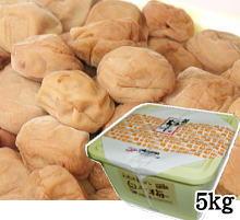 【送料無料】【紀州産南高梅】しょっぱい梅(家庭用白干梅) 5kg