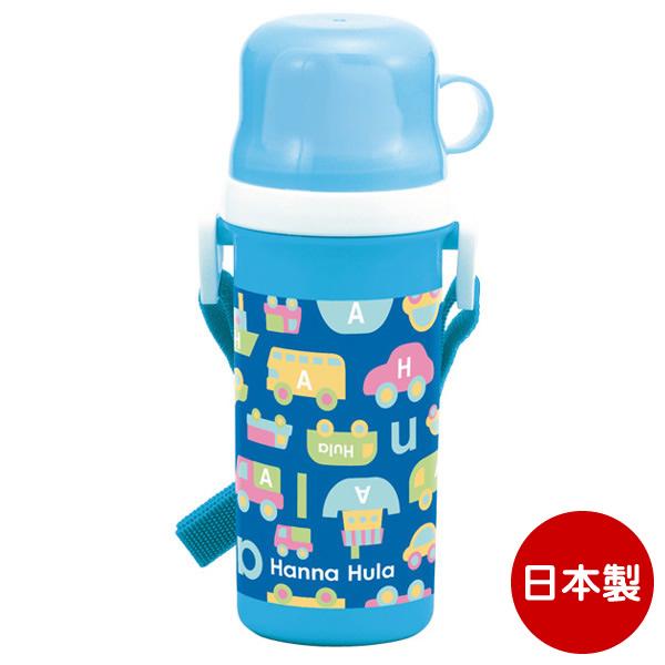 Hanna Hula(ハンナフラ) キッズ コップ付直飲みプラボトル 水筒 子供 | のりもの