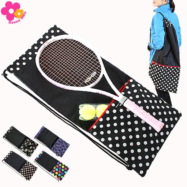Hanna Hula(ハンナフラ) 収納ポケット付テニスラケットケース