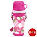 Hanna Hula(ハンナフラ) キッズ コップ付直飲みプラボトル 水筒 子供 | いちご