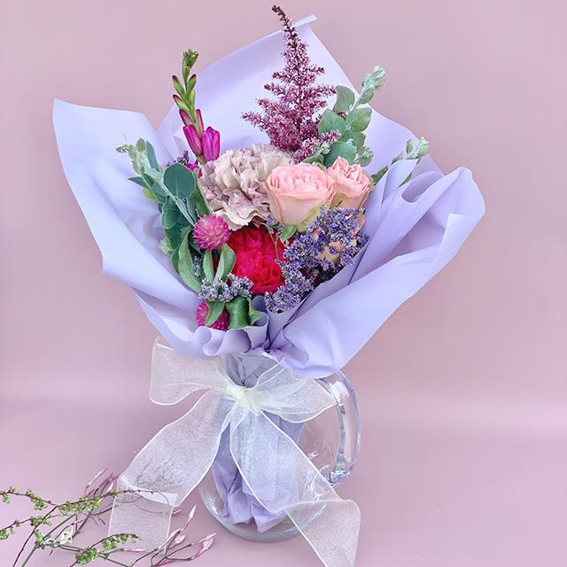 母の日ギフトD/ Flower bouquet with Vase