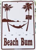 スチール看板 Beach Bum L