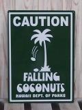 スチール看板 FALLING COCONUTS グリーン