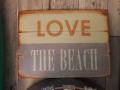 ブリキ看板 LOVE THE BEACH