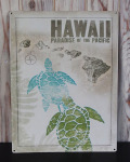 ブリキ看板 HAWAII PRADISE OF THE PACIFIC ホヌ