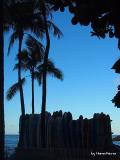 Hama Kena オリジナルフォト まだ眠っているワイキキビーチ