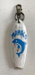ハンドメイド キーホルダー イルカ ブルー エイジングホワイト MAHALO