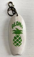ハンドメイド キーホルダー パイナップル グリーン ホワイト ALOHA