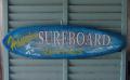 ハンドメイド ウッドサイン Hanalei SURFBOARD RENTALS