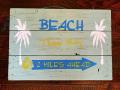 ハンドメイド ウッドサイン BEACH THIS WAY