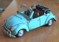 ブリキのミニチュアカー ビートルカブリオーレ ライトブルー