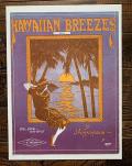 ヴィンテージ シートミュージック HAWAIIAN BREEZES