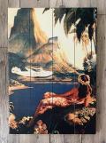 木製看板 FLY TO SOUTH SEA ISLES