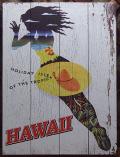 木製看板 南国の島の休日