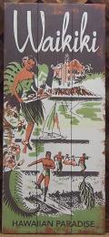 木製看板 Waikiki HAWAIIAN PARADISE