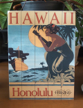 木製看板 HAWAII Honolulu 1916