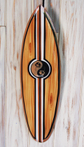 ウッドサイン サーフボードの壁掛け M ハイビスカス HAWAII